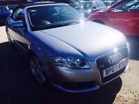 AUDI A4 CONVERTIBLE 2.0 T TURBO S LINE PETROL AUTOMATIC 2007 2 OWNER S SATNAV LEATHER SEATS