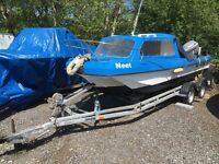 17 foot Wilson flyer fishing boat
