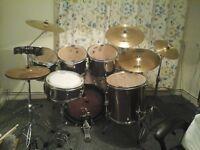 5 piece drum kit with extras