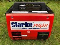 Portable suitcase Clarke power 700 watt G900 generator caravan motorhome campervan inverter