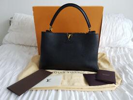 100% Genuine Louis Vuitton GM Capucines Noir With Receipt Dustbag Box