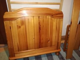 Toddler child's bed pine excellent condition
