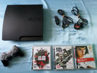 160GB PLAYSTATION 3 PS3 WITH 3 GAMES