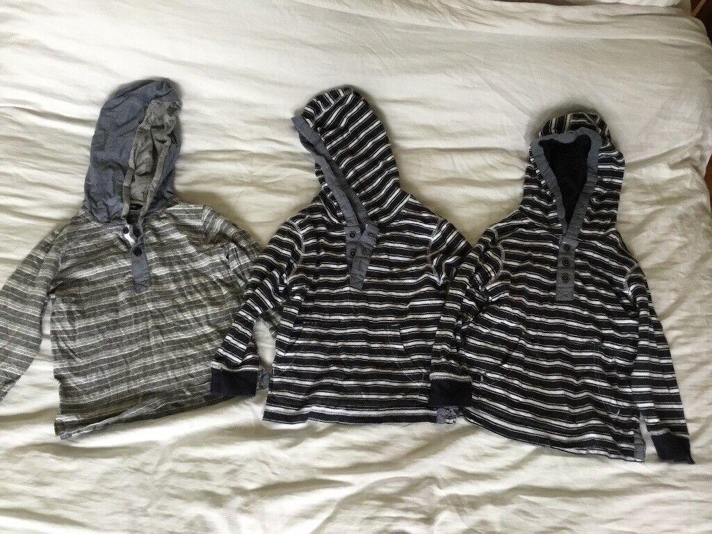 Three boys hooded tops age 2/3 years not worn bundle