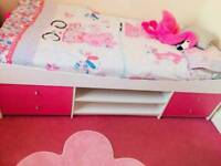 pink girls cabin bed