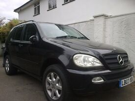 2003 MERCEDES BENZ ML 270 CDI AUTO BLACK LOW MILAGE VERY CLEAN BARGAIN