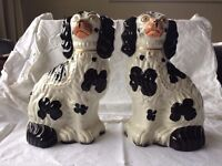 Cavalier King Charles Spaniels Staffordshire Dogs Victorian Figurines