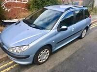 Peugeot 206 SW 1.4 HDi S 5dr (a/c) 11 months mot, £30 Road Tax YR 2004 (04 reg), Estate