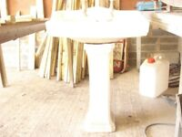 antique toilet and sink set