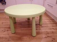 Light green Mammut Ikea children's table