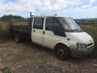 Ford transit double cab breaking