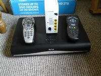 3 sky boxes, 3 remotes, 2 wireless routers and 1 hub