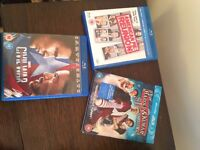 Blue ray dvds x 3