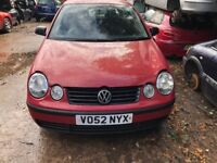 2002 Volkswagen Polo S 3dr 1.2 Petrol Red BREAKING FOR SPARES