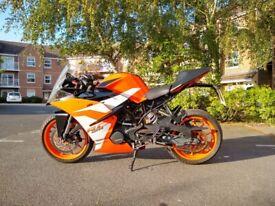 KTM RC125 Sports Bike (RC 125 not Yamaha YZF R125, MT125, CBR125, Duke 125, Ninja 125, GSXR 125)