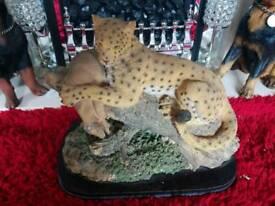 Leopard large ornament