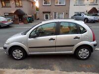CITROEN C3 HDI LX DIESEL CAR 2004 54 PLATE MOT SEPT 2017 JUST £30 ROAD TAX SILVER 5 DOOR HATCHBACK