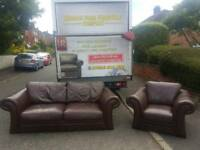 3+1 rolled arm l3ather sofa