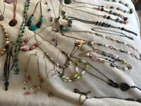 Large quantity of fashion necklaces