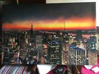 A big canvas NEW YORK EX CONDITION Size 122X80cm £30