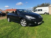 STUNNING PEUGEOT 307CC CONVERTIBLE - LOW MIL. 74K- 1 YEAR MOT / SERVICE DONE- 4 BRAND NEW TYRES