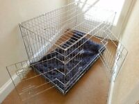 Large collapsible dog crate for sale - never used (his Lordship was having none of it)