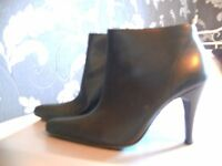 excellent quality black high heel boots