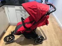 Phil & Teds Navigator single buggy red great condition