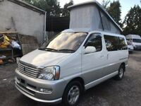 2001 TOYOTA HIACE REGIUS 2.7 PETROL 4 BERTH CAMPERVAN NEW SIDE CONVERSION POP
