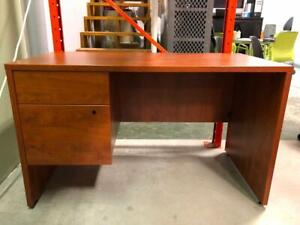 Single Pedestal Straight Desk - 24 x 48 - $125