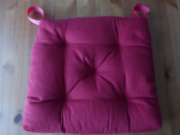 Red Cushions for Dining Table Chairs x 4