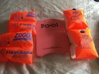 2 pairs of Armbands and swimming float