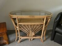 Wicker Breakfast Table Set