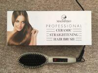 Ladies / Girls Professional Ceramic Hair Straightener Brush - Good As New