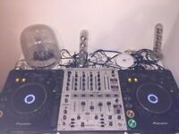 2 x Pioneer CDJ 1000 MK2's and a Behringer DJX700