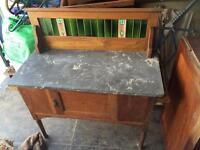 Vintage antique Victorian washstand with cupboard