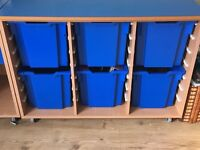 Storage unit with draws ideal for playroom or bedroom