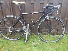 Giant ocr2 road bike, aluminium frame, carbon forks.