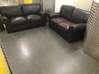 3+2 seater leather sofa set •free delivery •