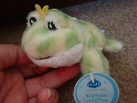 New Tagged Cloud B Twinkling Firefly Frog Soft Baby Tot Rattle Only £2 ideal xmas gift