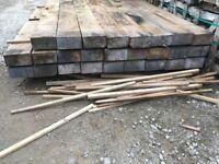 New railway sleepers oak