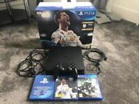 PS4 Slim Black 500GB, Controller Headset and Games