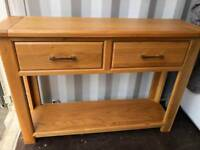 Immaculate Solid Oak Hall Console Table