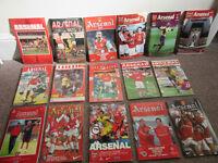 Arsenal Home Programmes