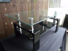 Black Glass Square Tv Stand Delivery Available