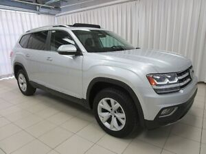 2018 Volkswagen Atlas Highline V6 4-Motion AWD, Heated & Cooled