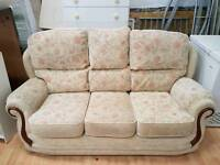 Three seater material sofa for sale good clean condition