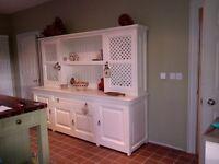 large cream kitchen dresser
