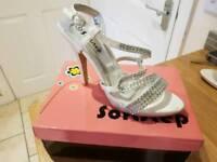 Ivory diamonte shoes