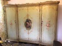"""""""ORIGINAL"""" NEVER PAINTED OVER ANTIQUE FRENCH WARDROBE/ARMOIRE, AND CHEST OF DRAWERS"""""""